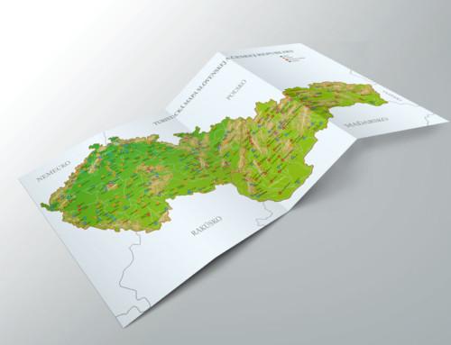 Turistická mapa – príloha do knihy – ilustrácie