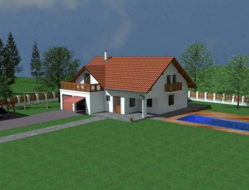 Projekt domu 2 – 3d